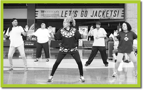 Community goers enjoy dancing at Buckeye's Senior Health and Fitness Day.